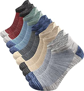 Closemate Ankle Athletic Trainer Socks for Men Women, Cotton Non Slip Low Cut Running Socks for Sports 5 Pairs