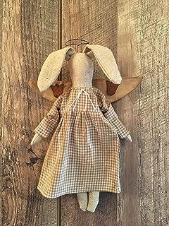 Folk Art Primitive Farmhouse Spring Easter Bunny Angel Doll