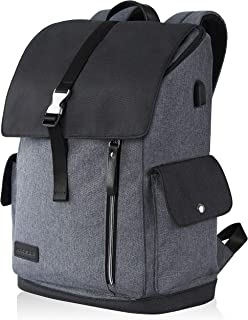 "KROSER Laptop Backpack 17.3"" XL Travel Business Anti-Theft Large Computer Backapck Water-Repellent College School Daypack with USB Charging Port for Women/Men-Grey"