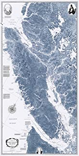 Sobay Map P005 - Vancouver Island & Vicinity (Salish Sea) - 31x59 Wall Map - Paper or Laminated (Paper)