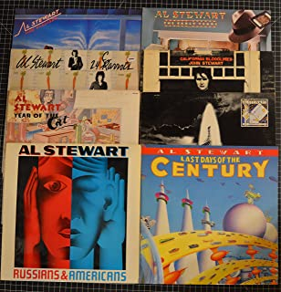 lot of 8 al stewart lps last day of century, past present and future, california bloodlines, early years, russians & americans, year of the cat, 24 carrots, time passages