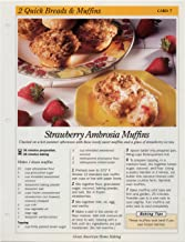 Great American Home Baking Recipe Card: 2 Quick Bread & Muffins - Card 7 Strawberry Ambrosia Muffins (Replacement Page or Recipe Card For 3-Ring Binders)