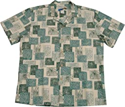 product image for Paradise Found Waimea Casuals Mens Monstera Shirt Beige 2X