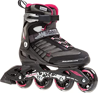 Rollerblade Zetrablade Women's Adult Fitness Inline Skate, Black and Cherry,..