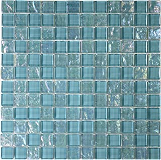 Best turquoise iridescent glass tile Reviews