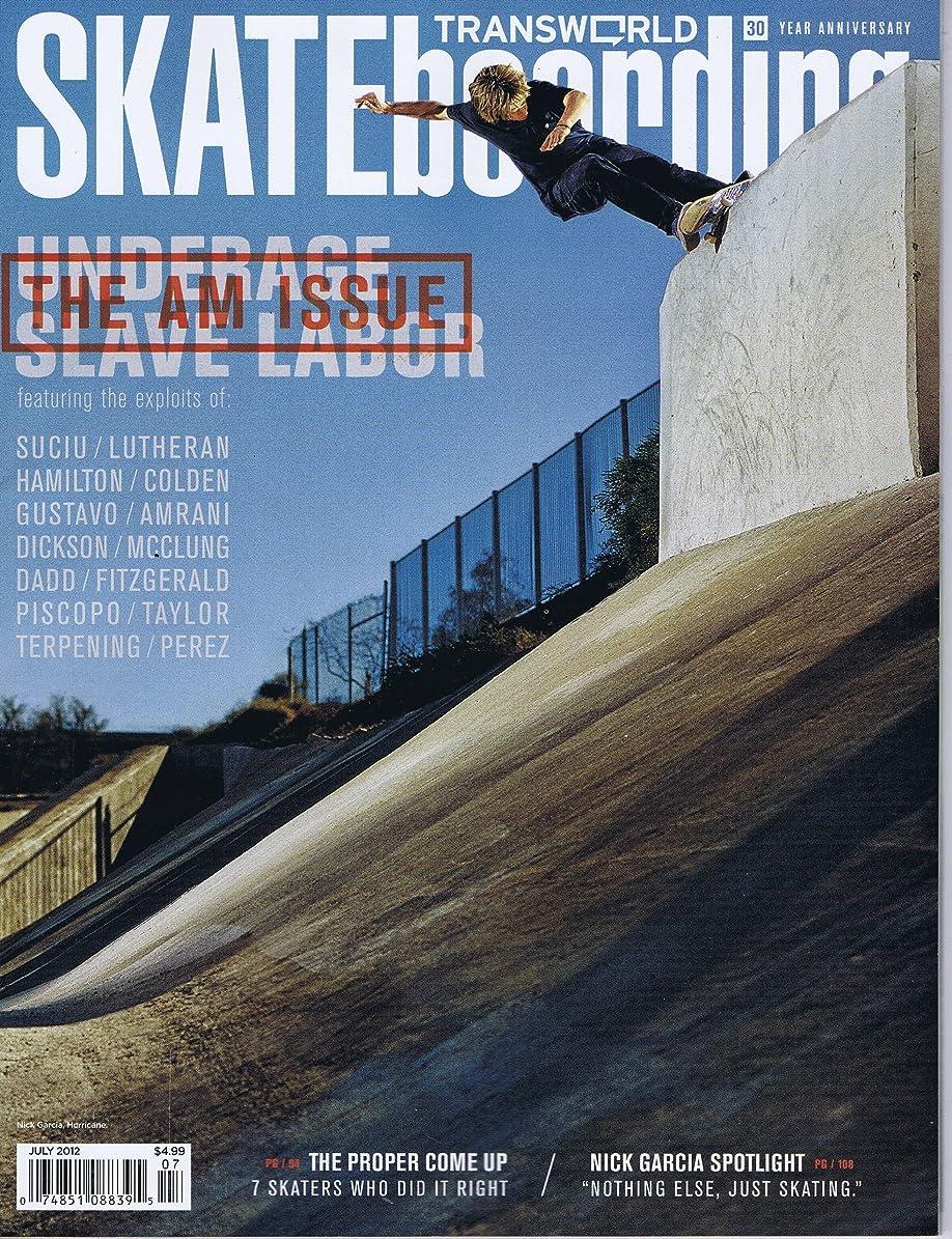 バルコニーメルボルン配当Transworld Skateboarding [US] July 2012 (単号)