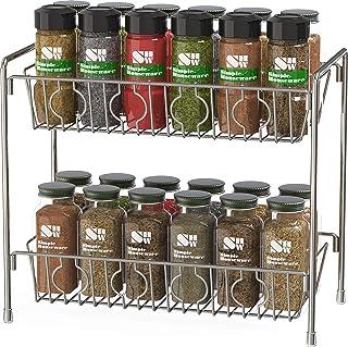 Sponsored Ad - SimpleHouseware 2-Tier Kitchen Counter Organizer Spice Rack, Chrome