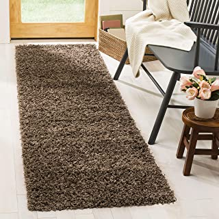 Safavieh Athens Shag Collection SGA119T Taupe Runner (2'3