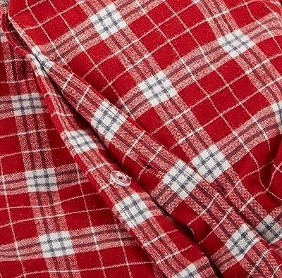 Pinzon Plaid Flannel Duvet Cover - Full or Queen, Bordeaux Plaid