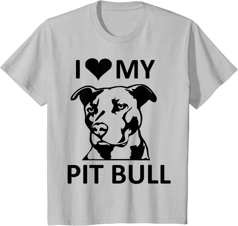 I Love My Pit Bull Women/'s Novelty T-Shirt