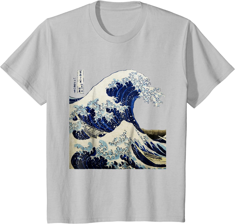 Art Japan Tsunami Retro Great Wave Tshirt Unisex Kanagawa