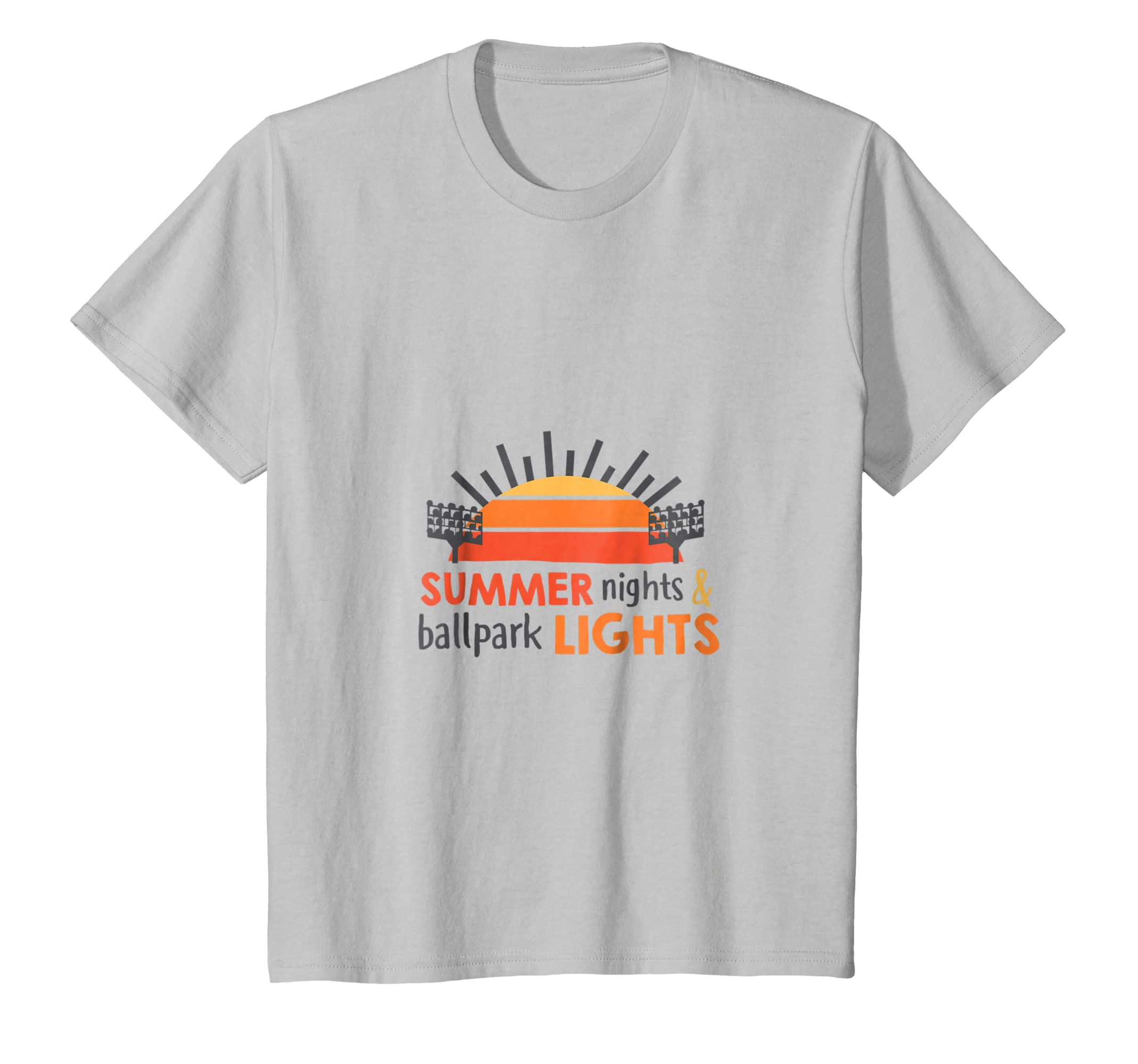 b956c61bb444 Amazon.com  Summer sights   ballpark Lights Baseball Shirt for Men Women   Clothing