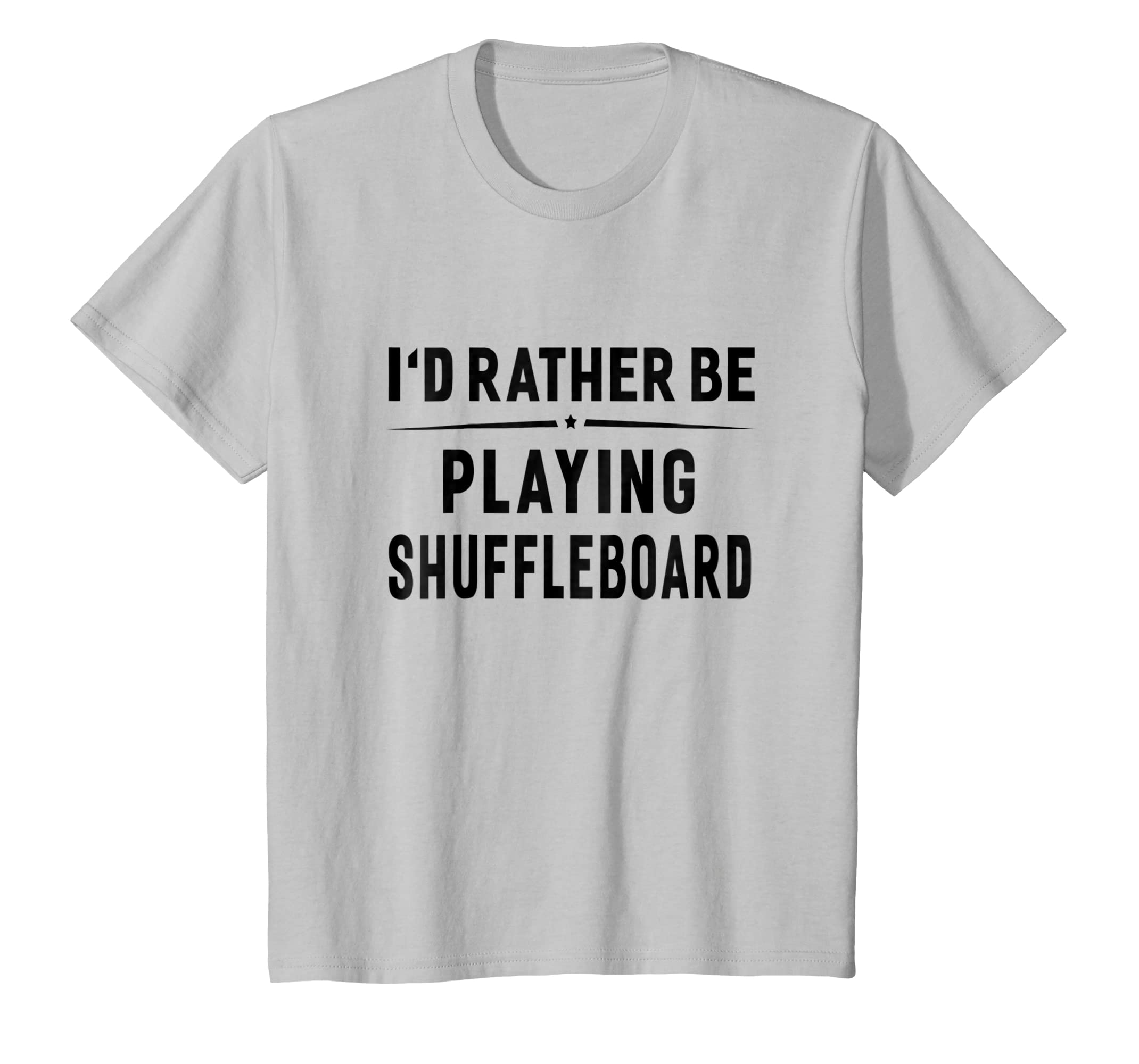 Kids I'd Rather Be Playing Shuffleboard Funny Game T shirt-Bawle