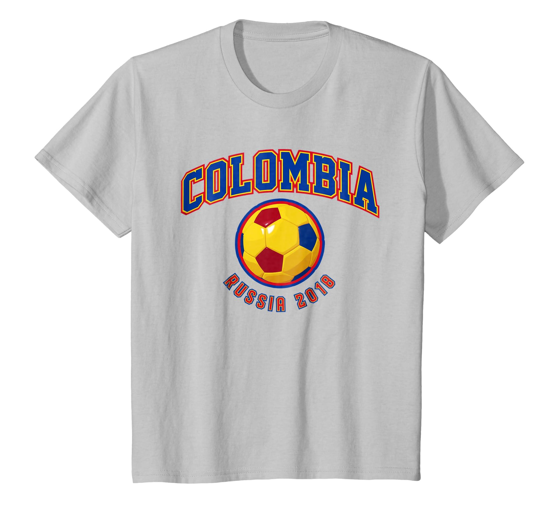 Amazon.com: Colombia Soccer Shirt 2018 Russia World Futbol Team Cup: Clothing