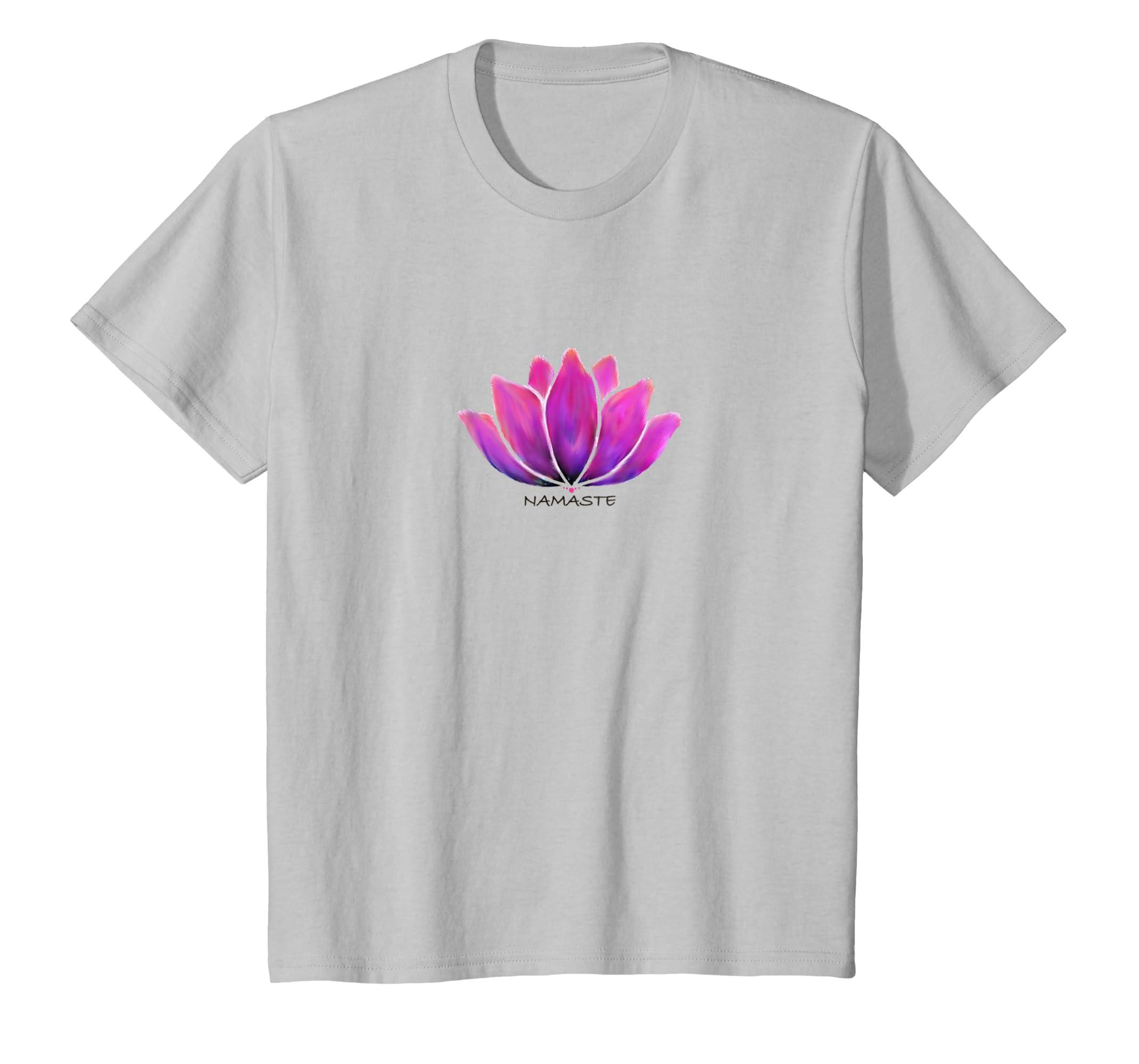 Amazon Lotus Flower Namaste Yoga Shirt Clothing