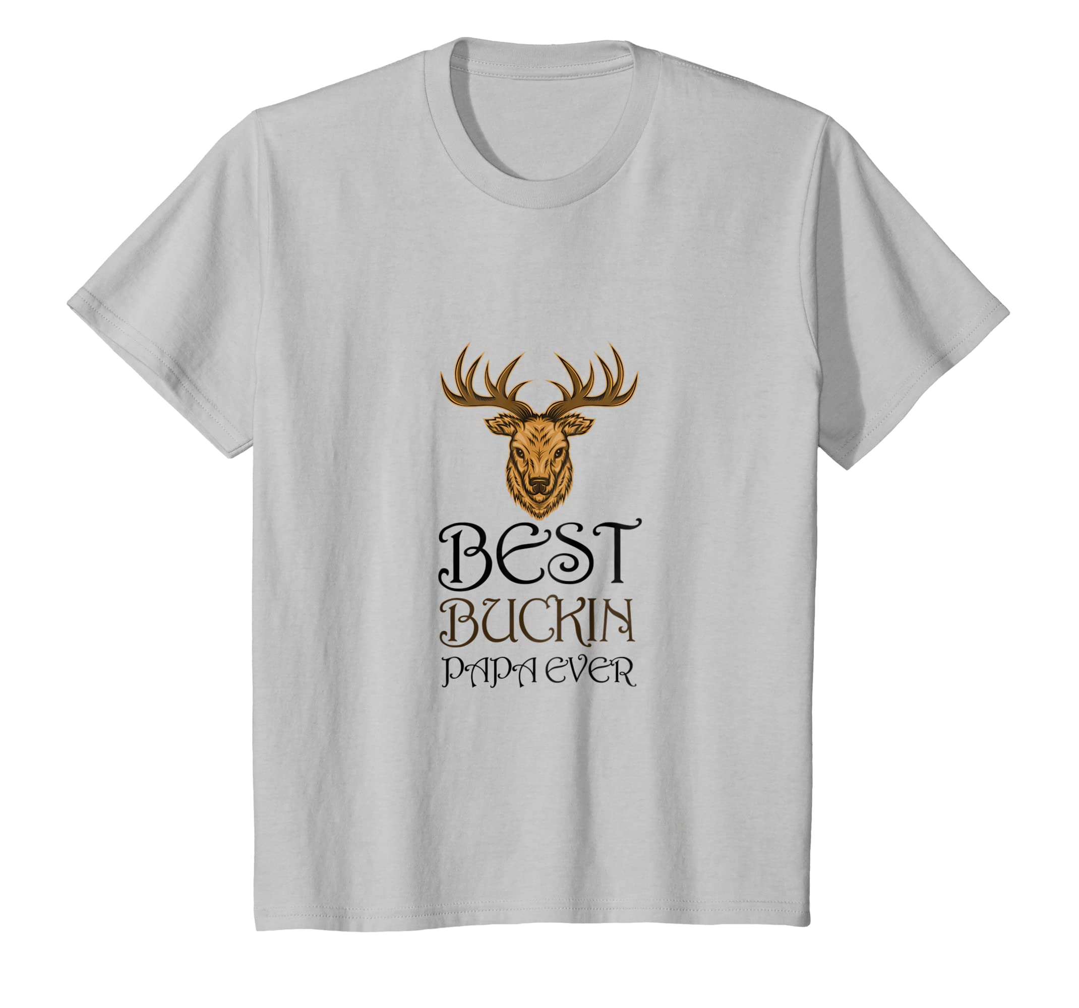 4df1f57984b Amazon.com  Best Buckin Papa Ever Buckin Dad Deer Hunt Father T-shirt   Clothing
