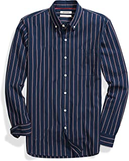 Amazon Brand - Goodthreads Men's Slim-Fit Long-Sleeve Pinstripe Chambray Shirt