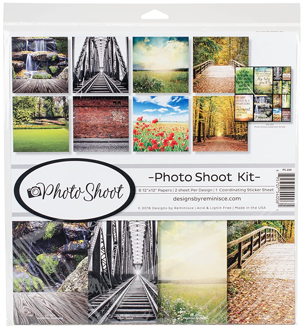 Reminisce Photo Shoot Scrapbook Collection Kit