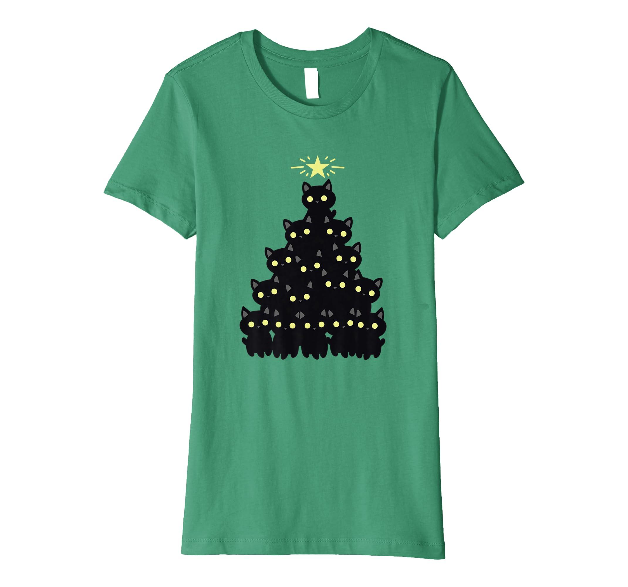 8ba21fd5 Amazon.com: Merry Catmas Christmas Black Cat Funny Holiday T-Shirt: Clothing