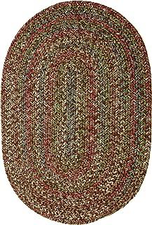 Sonya Indoor/Outdoor Oval Reversible Braided Rug, 8 by 11-Feet, Brown Multicolor