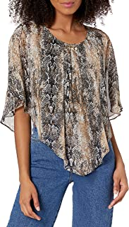 A. Byer womens Popover Top Blouse