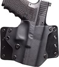 Black Point Tactical Leather Wing OWB Holster Fits Glock 26/27/33, Right Hand, Black