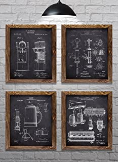 Gifts for Beer Lovers! - Vintage Beer Themed Patents - Set of Four - 8x10