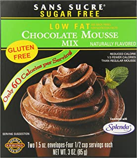San Sucre Mousse Mix, Chocolate, 3 Ounce (Pack of 6)