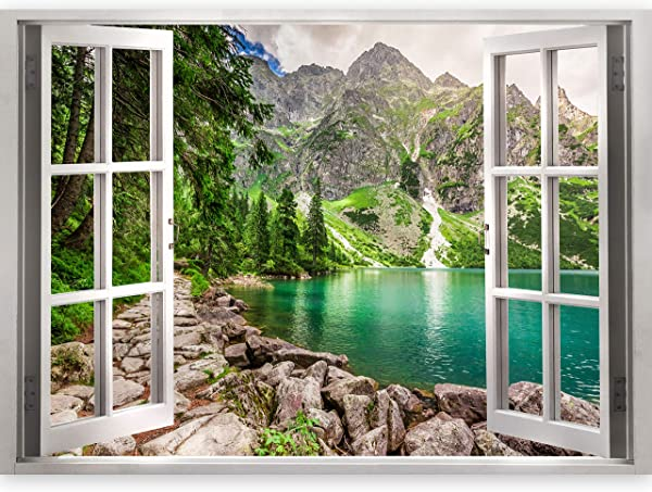 Artgeist 3D Effect Wall Optical Illusion 55 1 X 39 4 Mural Poster Art Print Window View C B 0209 C A