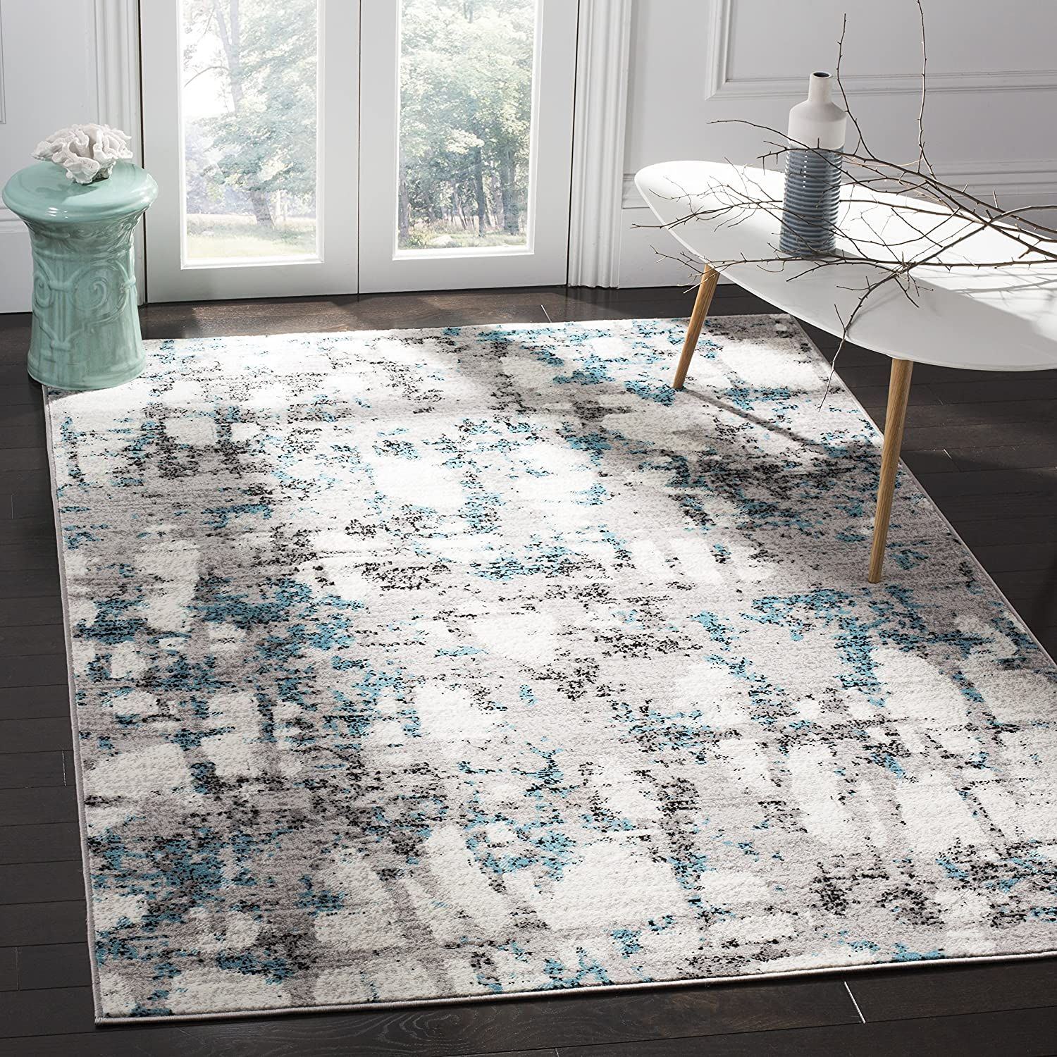 Safavieh Max 86% OFF Skyler Collection Clearance SALE! Limited time! SKY193B Non-Shedding Modern Abstract