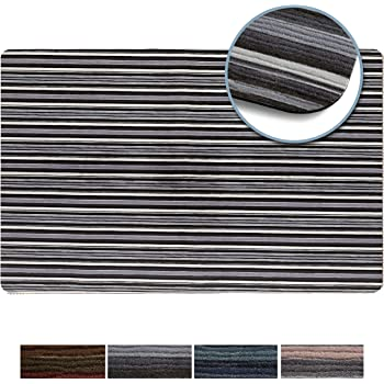 """Shape28 Floor Mat Ultra-Thin Kitchen Rug with Non Slip Rubber Backing 35/""""x23/"""" Cappuccino"""