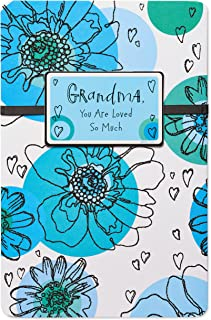 American Greetings Birthday Card for Grandma (Blue Floral)