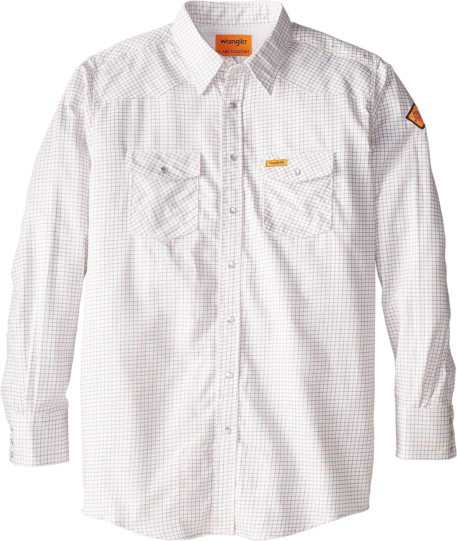 Wrangler Riggs Workwear Men's Big & Tall Flame Resistant Western Work Lightweight Woven Shirt