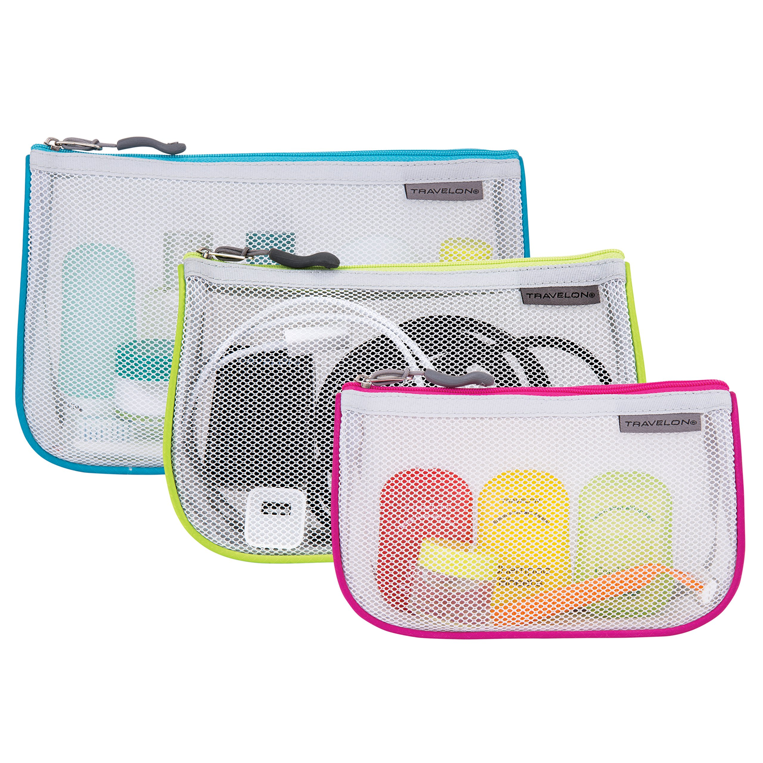 Travelon Assorted Piped Pouches Gray