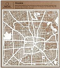 O3 DESIGN STUDIO Houston Paper Cut Map White 12x12 inches Paper Art