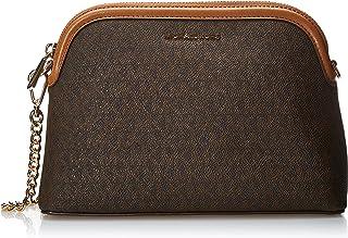 حقيبة كبيرة تمر بالجسم على شكل قبة ذات سحَّاب للنساء من مايكل كورس، اللون بني/اكرون - 32H9GJ6C3B