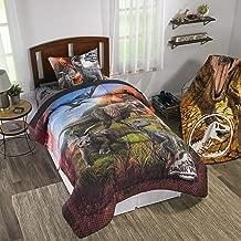 Franco Universal Jurassic World 2 'Eruption' 2pc Kids Bedding Twin/Full Comforter with Sham