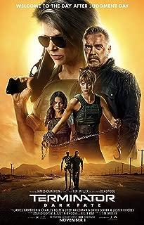 映画 ターミネーター ニュー・フェイト Terminator: Dark Fate 約90cm×60cm シルク調生地のアートポスター 01 アーノルド・シュワルツェネッガー ジェームズ・キャメロン