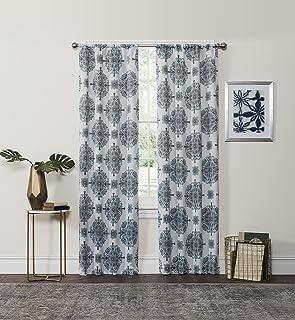 "Eclipse 37"" x 84"" Insulated Darkening Single Panel Rod Pocket Window Treatment Living Room, 37 in x 84 in, Aqua"