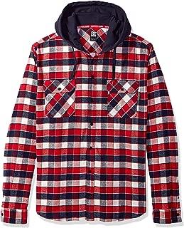 Men's Runnels Long Sleeve Hooded Flannel Shirt