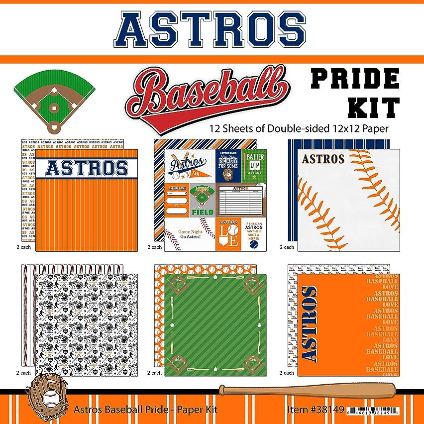 Scrapbook Customs Astros Pride Baseball Scrapbook Kit