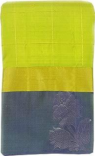 SARAVANABAVA SILKS Kanchipuram Pure Pattu Sarees Half & Half -(SRBS000P195-1 - Parrot Green - 5.2mts)