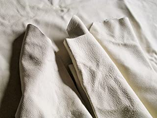 1kgパック 牛革 はぎれ 白・ベージュ系 本革 ハギレ レザー ソファーの補修 レザークラフト材料 小物づくり用 革 素材 ホビー 革の直し 日本製 皮