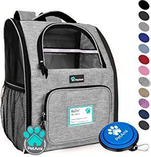 b74f839bc0d PetAmi Deluxe Pet Carrier Backpack for Small Cats and Dogs