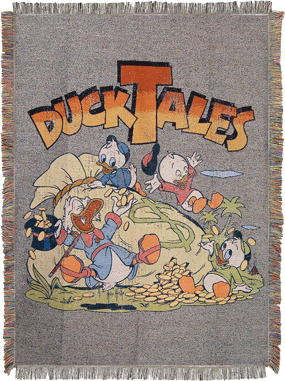 Disneys Duck Tales 48 x 60 Multi Color The Terror Woven Tapestry Throw Blanket