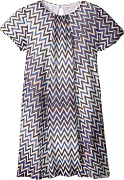 Lurex Zigzag Dress (Big Kids)
