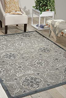 Nourison Graphic Illusions  Grey Rectangle Area Rug, 5-Feet 3-Inches by 7-Feet 5-Inches (5'3