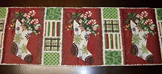 Christmas Stockings 13x68in Tapestry Table Runner