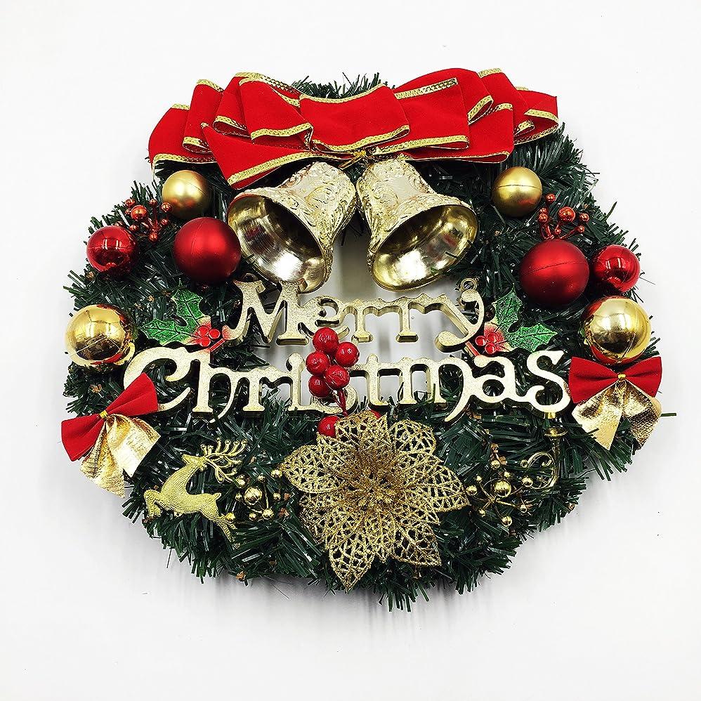 含意コミットメント興奮Mignon Lapin クリスマスリース 35cm クリスマス 飾り クリスマスオーナメント 店舗 玄関 窓 ドア Xmas 壁掛け (02 Bパターン)