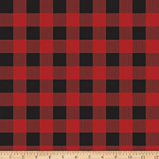 Riley Blake Gone Camping Plaid Red Fabric